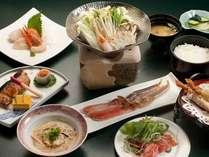 【夕食】《かにしゃぶ付き和食膳》¥3,000