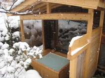 雪の露天風呂・・・内湯「すももの湯」専用露天風呂