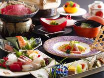 約13品の夕食は旬を大切にお品書きを1~2ヶ月で変更