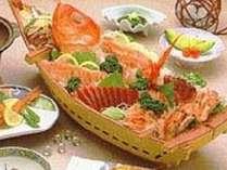 新鮮伊豆の地魚の舟盛