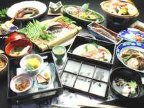 【夕食・天草の三代グルメプラン】アワビ、車海老、天草大王!3つの味が楽しめます。欲張りなあなたに!!