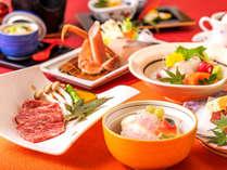 ずわい蟹&寒鰆のだし鍋と近江牛陶板焼きがメインの会席
