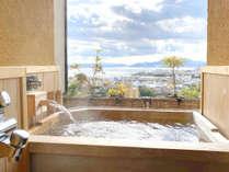 山野草客室露天風呂
