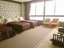 ペットと泊まれるトリプルベッド和洋室52平米