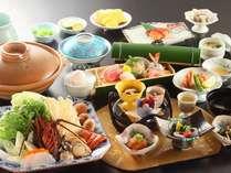 【11月-3月限定】スタンダード会席に味噌仕立ての伊勢海老鍋付き♪濃厚で温まる逸品♪