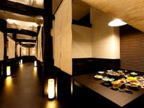 【夕食】お食事は朝夕個室のお食事処にて