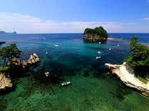 【景観】透明度が高い堂ヶ島の海