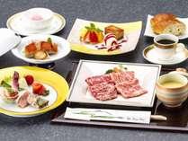 【料理長おすすめ料理を味わう(2)フレンチ】飛騨牛&近江牛と金目鯛のお箸でフレンチ会席宿泊プラン