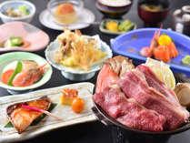 白馬の雪中野菜や、信州の恵みたっぷりの当館自慢のお料理をお楽しみいただけます。(写真は一例です。)