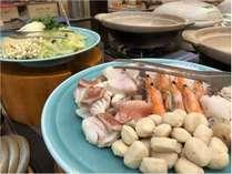 【朝食】お好きな具材を選んでオリジナルの鍋をお召し上がりください。
