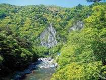新緑の天狗岩