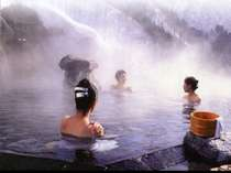 露天風呂、馬曲温泉