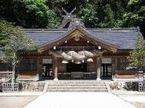 出雲國一之宮 スサノオノミコトを主神とする熊野大社。当館徒歩1分。