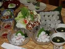 淡路島の夏の海の幸『活きはも』コース料理プラン。