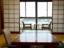 海向き12畳和室テラス付き