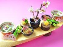 【ご夕食】里山の懐石の一品一例(春)