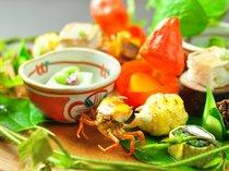 【ご夕食】里山の懐石の一品一例(夏)