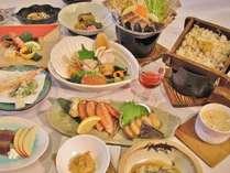 利尻島旬の満喫御膳(イメージ)※時期により内容が変更いたします。
