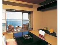 客室一例。全室より海をご覧いただけます