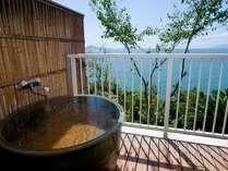 露天風呂付客室 (一例) 眺望をお楽しみ下さい