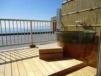 露天風呂付プライベートテラス 眼前に広がる瀬戸内海の大パノラマを自由気ままにお楽しみください