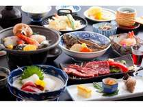 和会席【当館1番人気】☆海の幸と牛ステーキの満足会席☆ ≪食事処≫