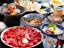 牛すき海鮮!【大満足】☆人気の陶板焼きと牛すき焼き☆≪お部屋食≫