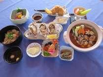 昼食プラン 牡蠣土手鍋