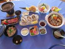 牡蠣土手鍋+和牛ミニステーキ