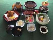 昼食プラン ミニ会席(和牛ミニステーキ+カキフライ)