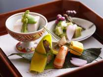 ☆春の会席料理一例。前菜。