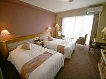 ◆デラックスツイン◆(40㎡)広々としたお部屋は疲れが癒されます