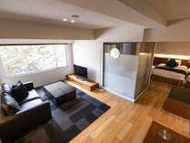 【スタンダード】ジュニアスイートルームで過ごす大人のプライベート空間(50平米・客室展望温泉風呂付)