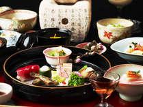 【旬の京会席】一例 ☆旬の恵みをふんだんに取り入れ、京都の地物をできるだけ使用しております。