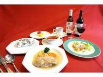 地鶏のパロワーズフルコース料理