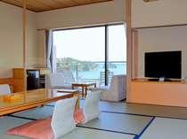 芭蕉亭より望む松島湾の景観!写真は客室一例