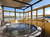 露天風呂付客室~芭蕉亭「松の間」 露天風呂からの絶景を独り占め♪