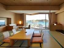 最上階のお部屋から松島湾の絶景をご堪能くださいませ。