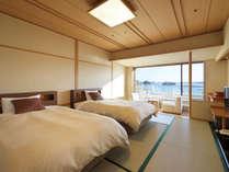 松島湾のオーシャンビューを望む海側の和室ツインタイプ