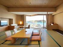 最上階芭蕉亭海側和室。