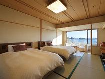 海側和室ツインの一例