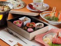 季節の会席膳(テーブル料理)の一例