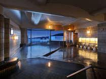 松島温泉「絹肌の湯」内風呂(男性側)