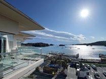 客室からの松島湾の眺め