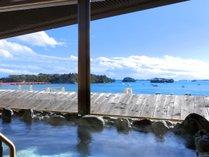 松島温泉「絹肌の湯」露天風呂(男性側)