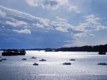 日本三景松島の風景を海側客室から一望できます
