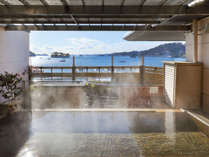 松島温泉「絹肌の湯」露店風呂(女性側)