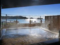 松島温泉「絹肌の湯」露店風呂(男性側)