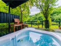 【特別室 萌~moe~】昼は広大なプライベートガーデンを臨む脱日常の入浴が叶う