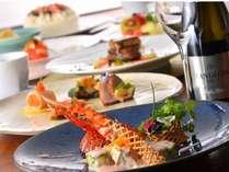 Anniversaryディナー一例、おふたりの記念日に最適な御料理で・・・